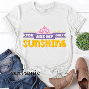 Women Short Sleeve Round-neck Loose Printed T-Shirt-Sunshine