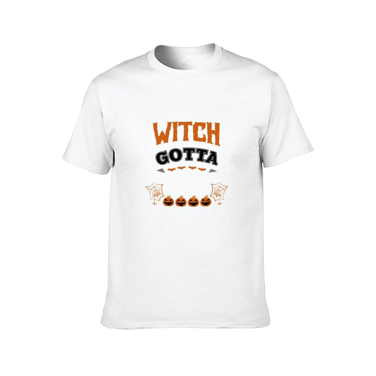Halloween T-Shirt Short Sleeve Round Neck Cotton T-Shirt for Women TT12000