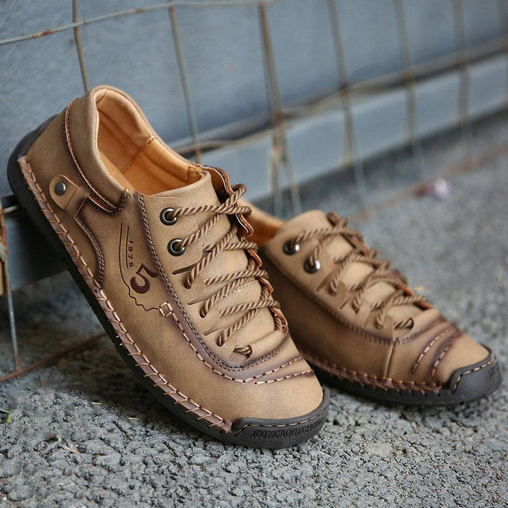 Men's Casual Lace Up Leather Shoes Sneakers