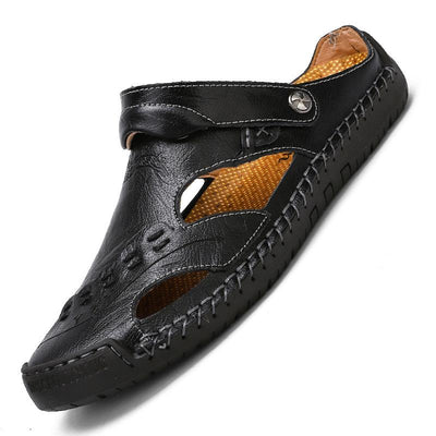 Men's Casual Sandals Beach Slippers Leather Shoes