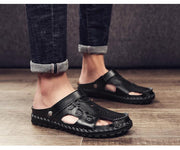 Men's Casual Sandals Leather Shoes