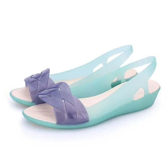 Women's ladies sandals non-slip printing hole shoes jelly shoes beach sandals slippers