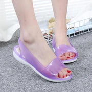 Women's summer sandals comfortable sandals hole shoes female plastic sandals female summer flat jelly shoes