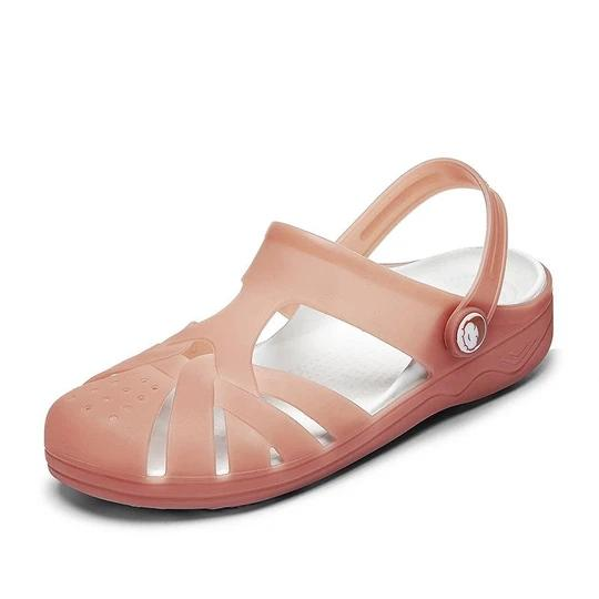 Women's New non-slip breathable ladies sandals jelly bottom garden shoes casual two wear beach shoes flat hole shoes