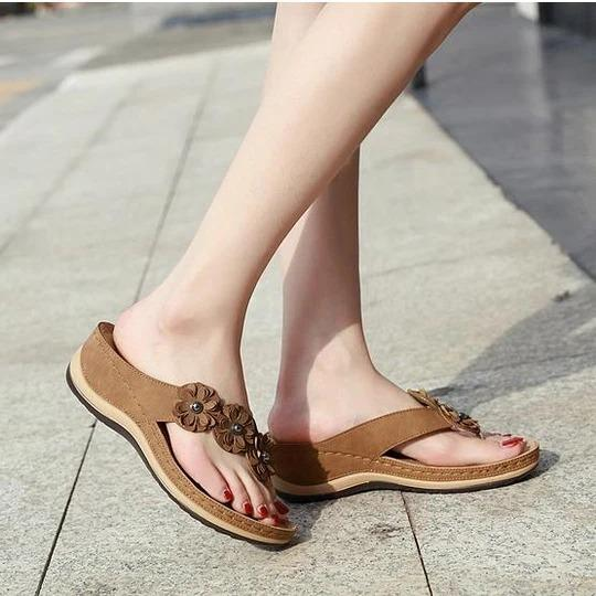 Women's lightweight herringbone flip sandals slippers shoes