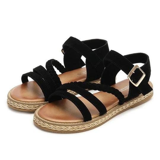 Women's flat sandals muffin heavy-bottomed round comfort casual shoes