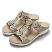 Women's wear rhinestones muffin slipper shoes flat sandals