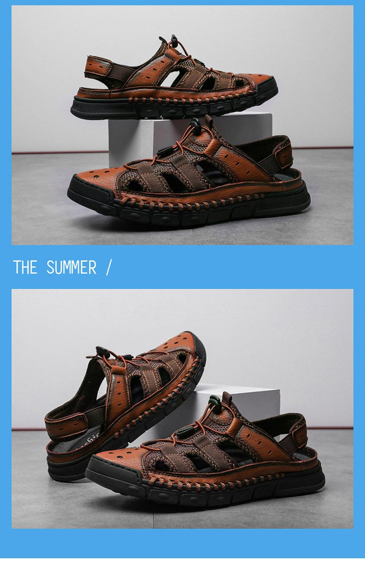 Men's Fashion Casual Lace up Beach Sandals