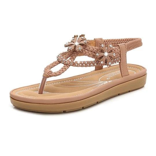 Women Sandals Hot Women Shoes Fashion Rhinestone Flat Sandals Summer Beach Shoes Woman Sandalie Flip Flops Female Shoes