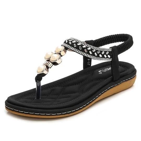Women Sandals Summer Women Shoes Fashion Flip Flops Women Flat Sandals With Rhinestone Bohemian Ladies Flat Shoes