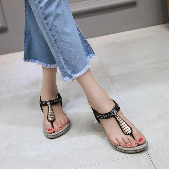 Women Big Size 42 Shoes Comfort Sandals Summer Fashion Flip Flops High Quality Flat Sandals Gladiator Sandalias