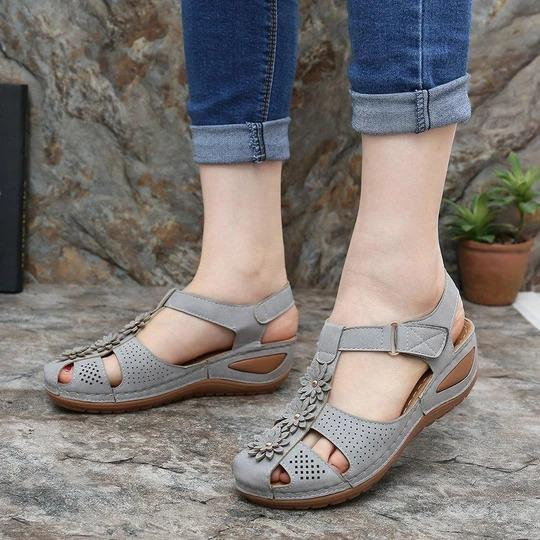 Womens Flower Hook Loop Casual Fisherman Sandalss