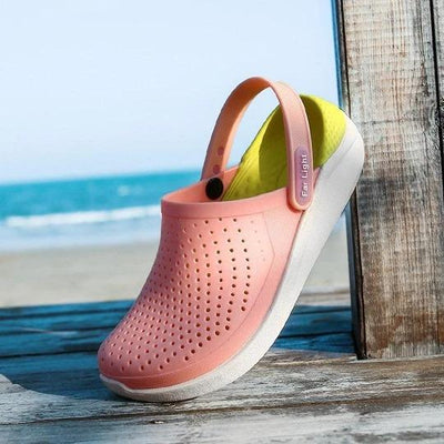 Women Casual Beach Breathable Hollow Non Slip Jelly Sandals