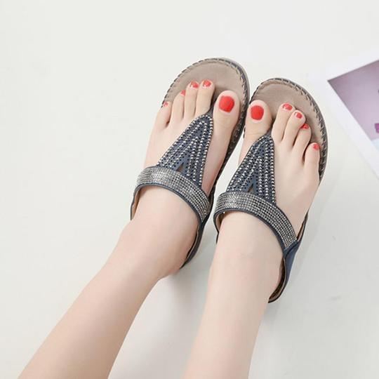 Women Flip Flops Sandals Summer Style Bling Crystal Fashion Jelly Shoes Sandal Flat Summer Shoes Woman Beach Women Slippers