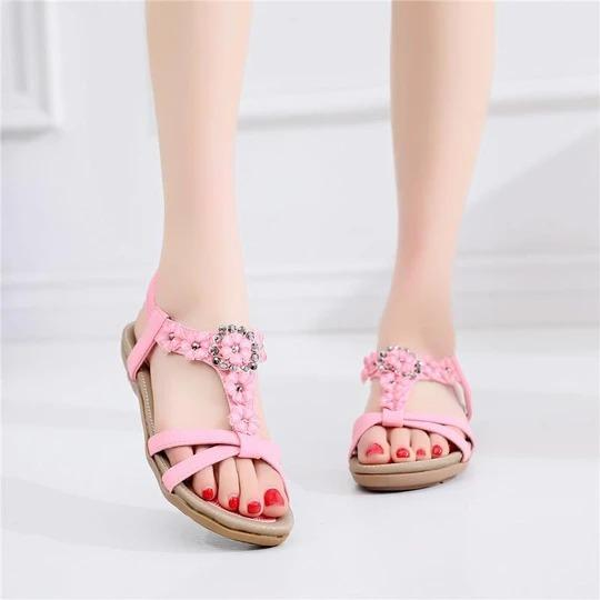 Women New Fashion Sandals Sweet Flower Sandals Women Casual Breathable Comfortable Sandals Classic Women Shoes