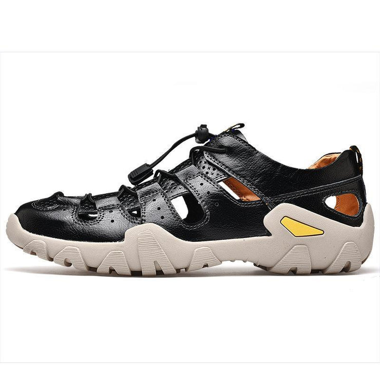 Men's Casual  Hollow Leather Sandals Beach Shoes