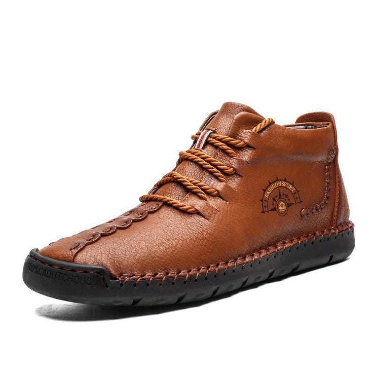 Men Outdoor Comfort Soft Leather Boots