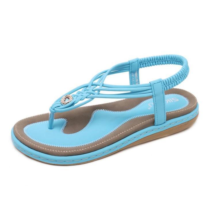 Women Beach Sandals Slip-On Summer Sandals Big Size Flats