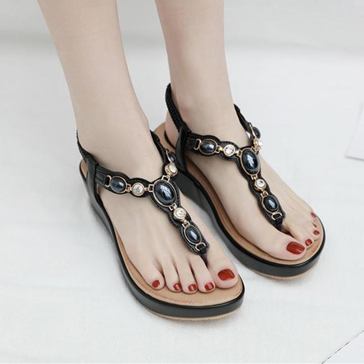 Women's Sandals Summer Fashion Soft Bottom non-slip women wedge Sandals Bohemian Beach Sandals