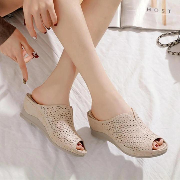 Women New Retro Shoes Sandals Fish Mouth Platform High Heels Sandals Wedges Shoes