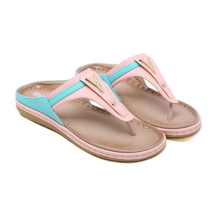 Women Color Matching Slippers Summer Beach Slippers Flip Flops Sandals