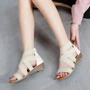 Women Fashion Solid Color Simple Low Heel Sandals