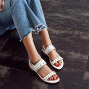 Women Casual Daily Low Heel Buckle Strap Sandals