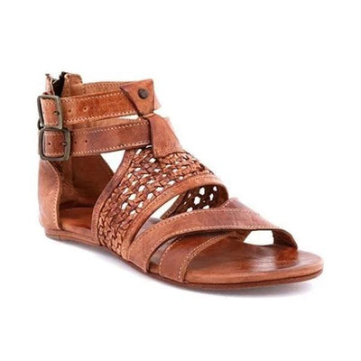 Women Casual Flat Heel Artificial Leather Sandals