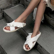 Women Slip-On Flat Heel Soft Sole Sandals