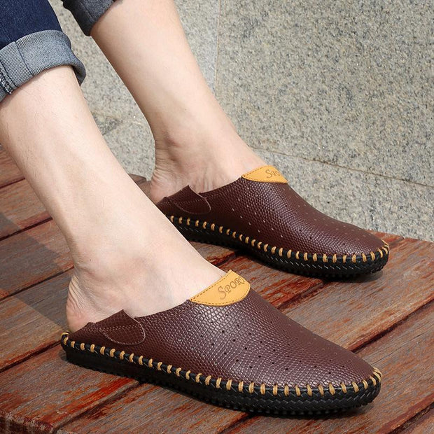 MEN OUTDOOR SLIP RESISTANT CASUAL LEATHER SHOES