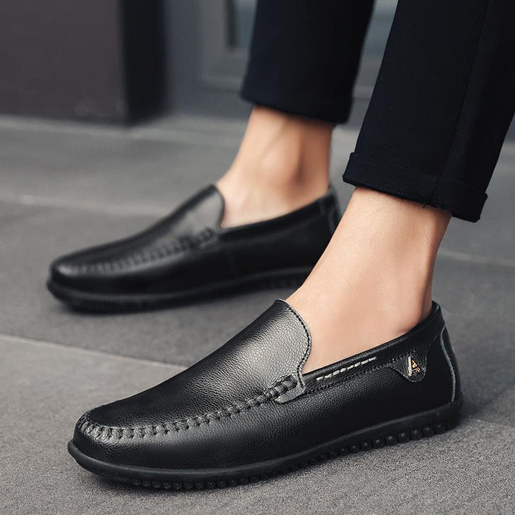 MEN OUTDOOR SLIP RESISTANT CASUAL LEATHER LOAFERS