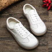 Women Round Toe Sneakers Hollow Flat Shoes