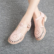 Women Flat Sandals Hollow Rome Shoes