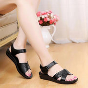 Women Summer Sandals Floral Hollow Wedge Shoes