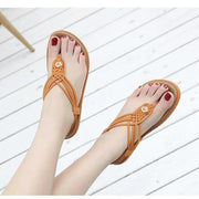 Women Thong Sandals Flat Beach Shoes