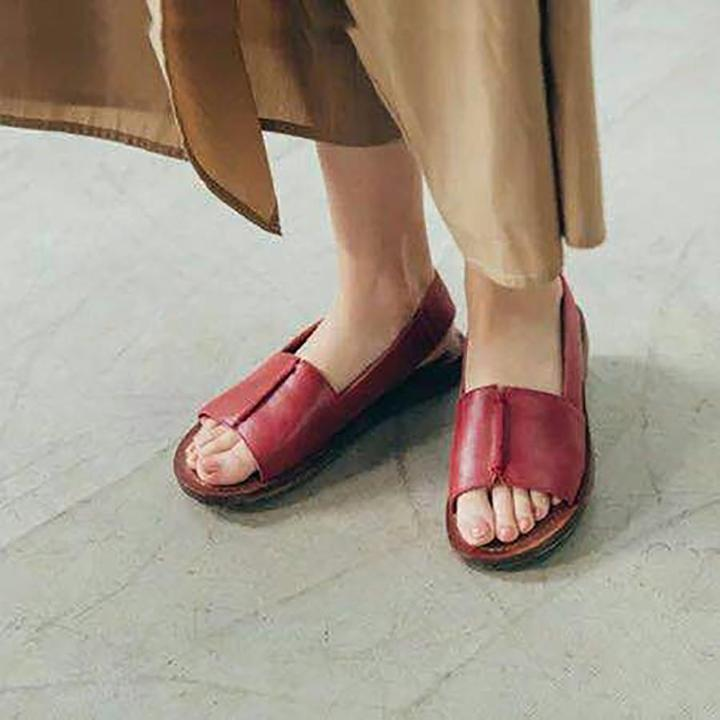 Women Sandals Casual Piscine Mouth Flat Beach Shoes