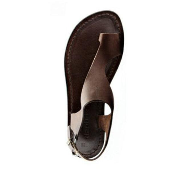 Women Thong Sandals Flat Almond Toe Shoes