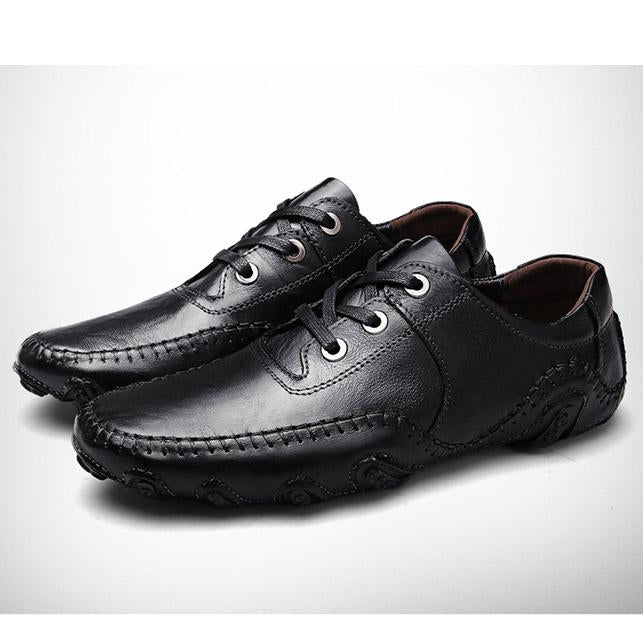 Men Round Toe Velcro / Lace-up Breathable Oxfords Shoes