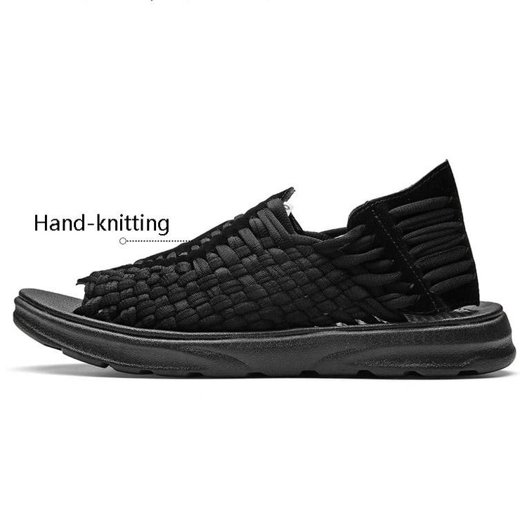 Men Sandals Casual Knitted Roman Shoes