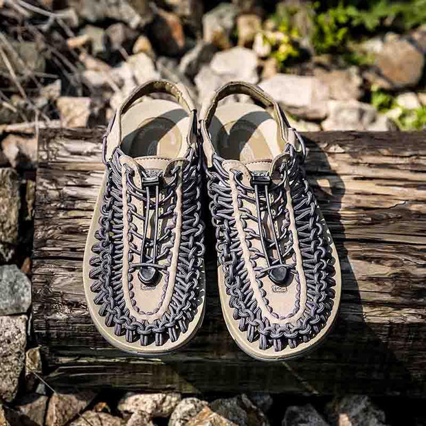 Men Shoes Casual Knitted Roman Sandals