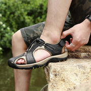Men Round Toe Casual Waterproof Shoes Outdoor Sandals