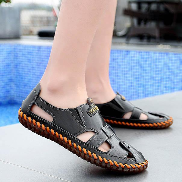 Men Round Toe Casual Shoes Beach Sandals