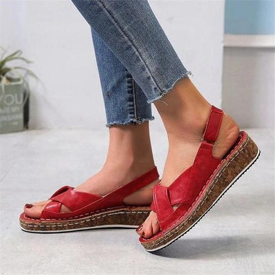 Women Casual Daily Comfy Open Toe Buckle Strap Sandals