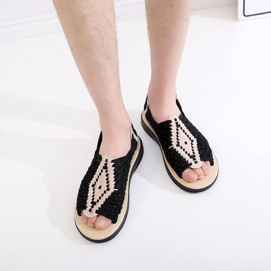 Women's non-slip hand-knit student beach shoes sandals