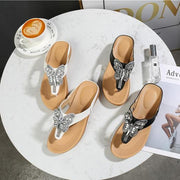Women's Slippers New Fashion Summer Non-slip Shallow Shoes Wedges Heel Women Outdoor Beach Slippers Sandals