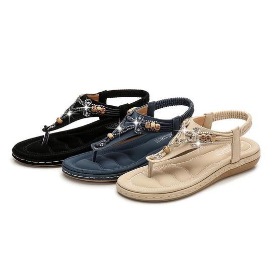 Woman Summer Shoes Sandals Bohemian Flat Sandalias Mujer 2019 Chaussures Femme Flip Flops Low Heel Thongs Sandals