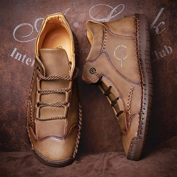Men Cow Leather Casual Boots Shoes