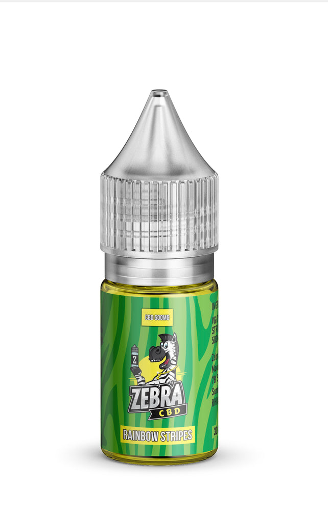 Zebra Rainbow Stripes CBD Vape Juice 30ML 500MG / 1000MG