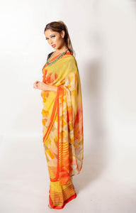 Orange and Yellow Aztec - Semi Stitched