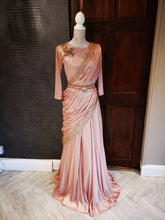 Load image into Gallery viewer, Draped saree gown